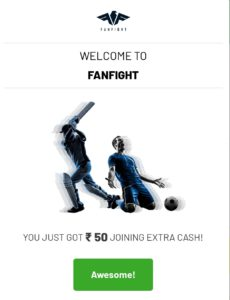 FanFight - Get Rs.50 Extra Cash