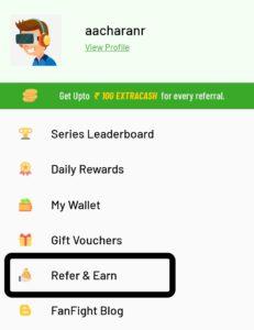 Refer & Earn option