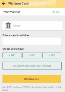 Enter Withdraw amount