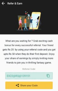 Share your Exchange22 Referral Code